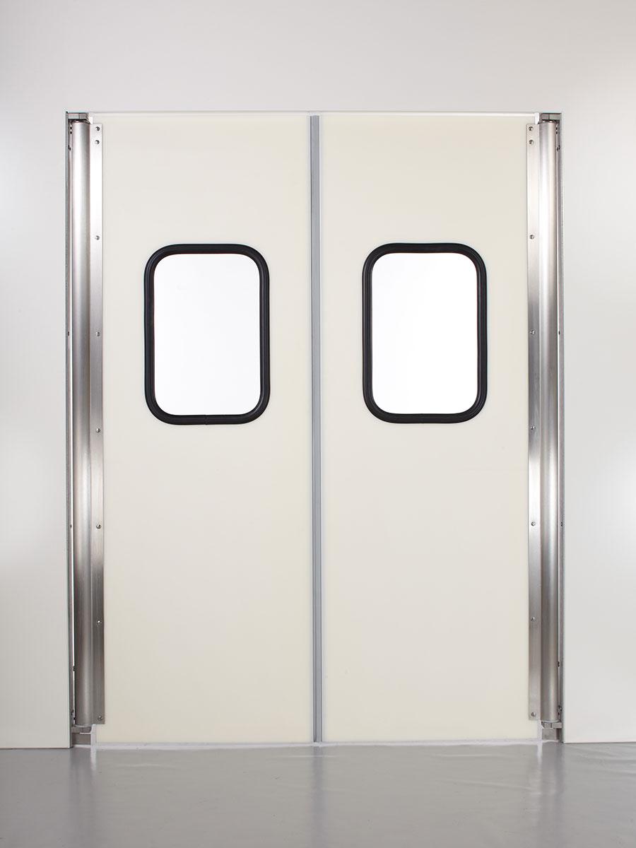 Polyethylen Hartkunststoff Doppel Pendeltür mit zwei Türflügel